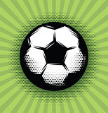 vector background with a soccer ball and green grass on the field