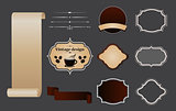 Vintage design elements set.