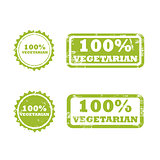 VEGETARIAN stamp sign
