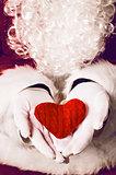 Santa Claus holding gift