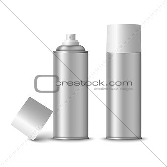 Blank silver spray bottle template