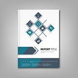 Brochures book or flyer with blue design info graphic