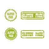 GLUTEN FREE stamp sign