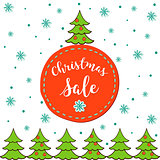 Christmas sale. Vector template