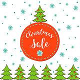 Christmas sale. Vector template