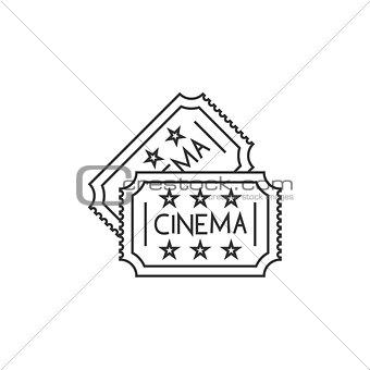 Cinema ticket line icon