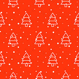 Xmas tree simple seamless vector pattern.