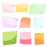 Sticky notes. Stationery clip vector.