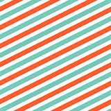 Diagonal red and mint line pattern.
