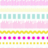Geometric embroidery vector seamless pattern.