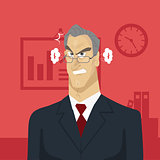 Angry boss in office