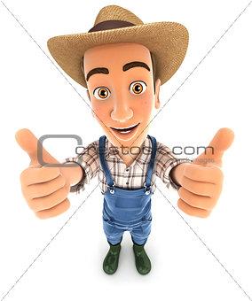 3d farmer thumbs up
