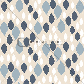 Abstract blue on beige petals pattern.