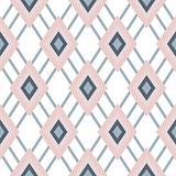 Rhombus geometric pastel pink seamless pattern.
