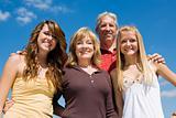 Beautiful Family & Blue Sky