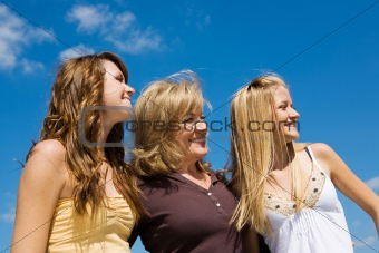 Beautiful Family in Profile