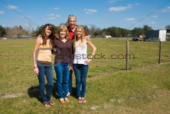 Beautiful Family on Farm