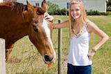 Farm Girl & Horse