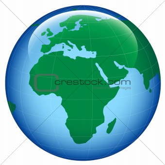 Image Shiny Earth Map From Crestock Stock Photos - Round world map image