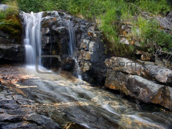 Small falls in mountains
