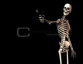 Skeleton And Gun 8