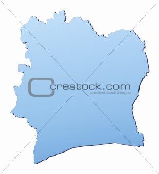 Cote DIvoire map