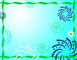Blue Abstract Party Background