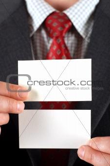 blank visiting card