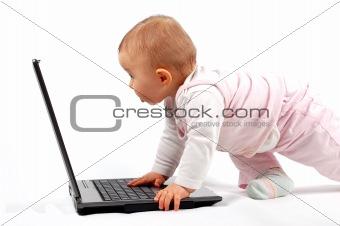 baby having fun with laptop #11