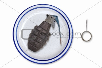 Grenade on a plate