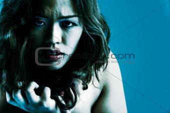 Angry chinese girl