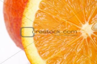 Pperfectly fresh orange, close-up