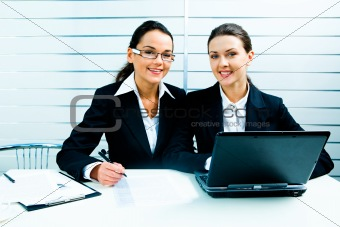 Business ladies at work
