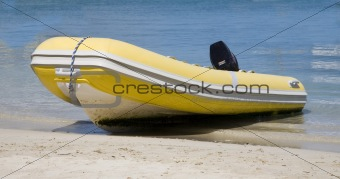 Dingy on Beach