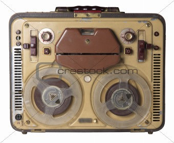 Old fashioned tape recorder 90