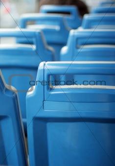 back city bus blue vacation seats