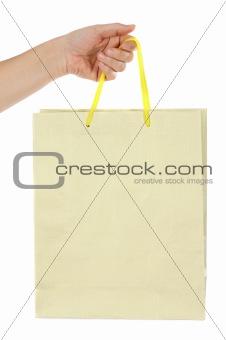 Hand whit bag
