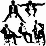 Manager in Office - Silhouettes