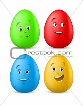 Image Description: funny coloured easter eggs with happy faces vector ...: funny-pictures.picphotos.net/description-images-easter-perspective...