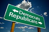 Democrats/Republican - Road Sign.