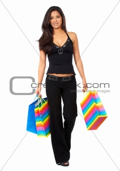 girl out shopping