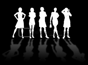 Businesswomen silhouettes