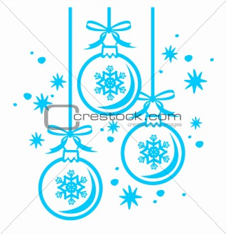 christmas balls contour
