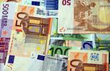 Euro bank notes 