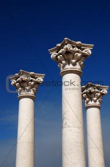 Three greek pillars