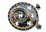 Puzzle ofAstronomical clock in Prague