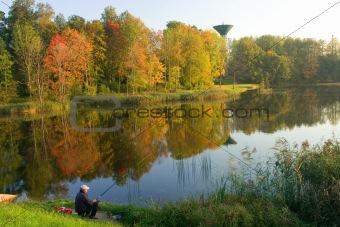 Autumn landscape from Latvia