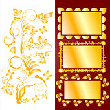 Ornamental design elements and frames