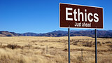 Ethics brown road sign