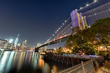 New York Manhattan Bridge and Downtown